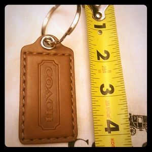 New Coach Tag Brown SOFT Leather Key Ring